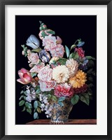 Framed Vase of  Summer Flowers