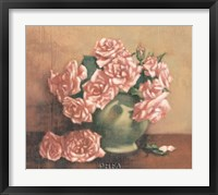 French Cottage Roses I Framed Print