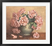 French Cottage Roses II Framed Print