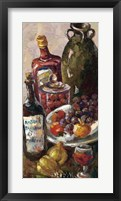 Framed Pears and Wine