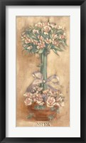 Pink Ophelia Topiary Framed Print