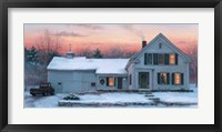 Framed Farmhouse Sunset