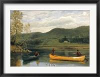 Framed Men in Two Canoes