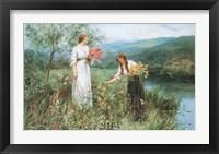 Framed Gathering Flowers