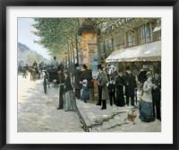 Framed Paris on the Boulevard, 1890