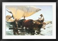 Framed Retour de la Peche, Halage de la Barque