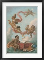 Framed Cherubs Studying