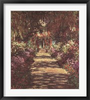 Framed Pathway in Monet's Garden at Giverny, c.1902