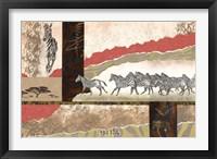 Serengeti Zebras Framed Print