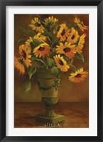 Framed Mediterranean Sunflowers I