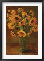 Framed Mediterranean Sunflowers II