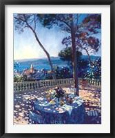 Framed La Terrasse sur St. Tropez
