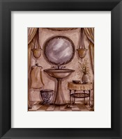 Charming Bathroom IV Framed Print