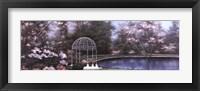 Framed Lakeside Gazebo Panel