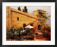 Framed Tuscan Courtyard