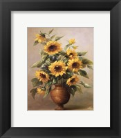 Sunflowers In Bronze I Framed Print