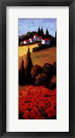 Tuscan Poppies Panel II Framed Print