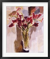 Framed Red Calla Lilies
