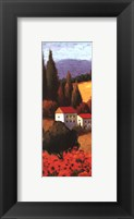Framed Tuscan Poppies Panel I