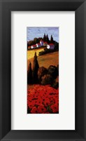 Framed Tuscan Poppies Panel II