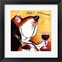 Bar Hound Framed Print