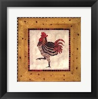 Framed Mosaic Rooster No.1