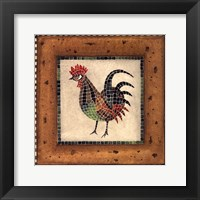 Framed Mosaic Rooster No.4