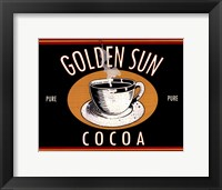 Golden Sun Cocoa Framed Print