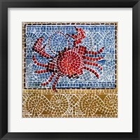 Framed Mosaic Crab