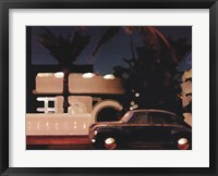 Red Palm Framed Print