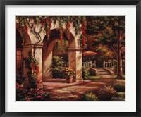 Arch Courtyard II Framed Print