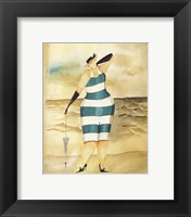 Framed Baigneur de Soleil I (blue stripes)