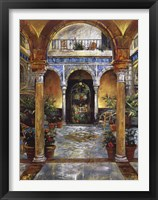 Framed Mediterranean Fountain