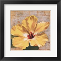 Framed Fabric Floral One