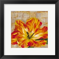 Framed Fabric Floral Two