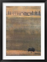 Framed Montalcino Dawn