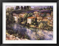 Framed Village on the Arno