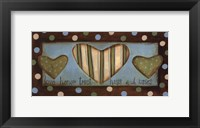 Framed Love Honor Trust Hugs & Kisses