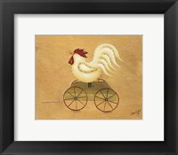 Framed Rooster Pull Toy