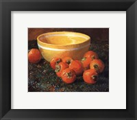 Framed Yellow Bowl With Persimmons