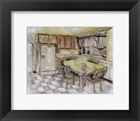Framed Mid Century Kitchen I (Sm)