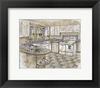 Framed Mid Century Kitchen II (Sm)