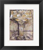 Antique Bath III Framed Print