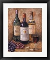 Framed Wine And Fruit