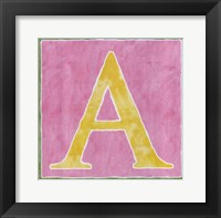 Pink Background Framed Print