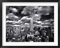 New York, New York, Sky Over Manhattan Framed Print