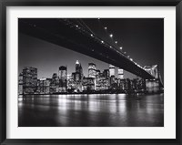 Framed New York, New York, Manhattan Skyline
