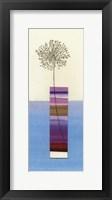 Framed Stripy Vase and Dandelion