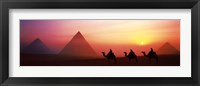 The Great Pyramids, El Giza, Egypt Framed Print