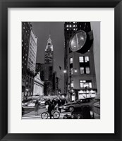 Framed Chrysler Clock, Madison Avenue